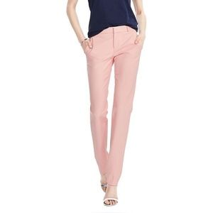 Banana Republic Light Pink Straight-Fit Ryan Pants